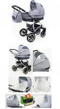 Kočárek Raf-Pol Baby Lux Largo v provedení Silver