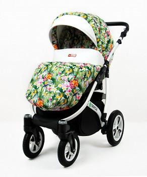 Kočárek BabyLux Tropical v provedení Flowers