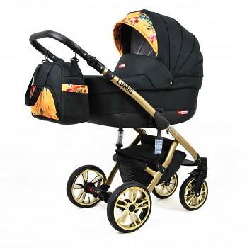 Kočárek Baby Lux Lumio Sun Garden 09 - zlatý podvozek