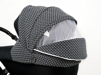 Kočárek Raf-Pol Baby Lux Queen v barvě Classic Black