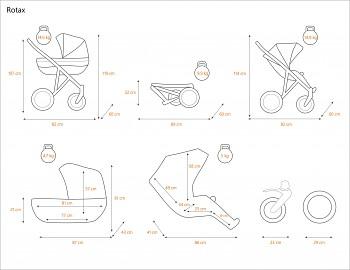 Kočárek Kunert Rotax - rozměry