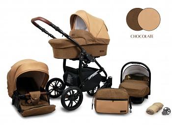 Kočárek Baby Lux Optimal Black Chocolate 2019