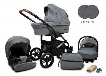 Kočárek Baby Lux Optimal Black Grey Flex 2019