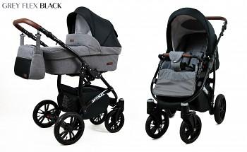 Kočárek Baby Lux Optimal Black Grey Flex Black 2019
