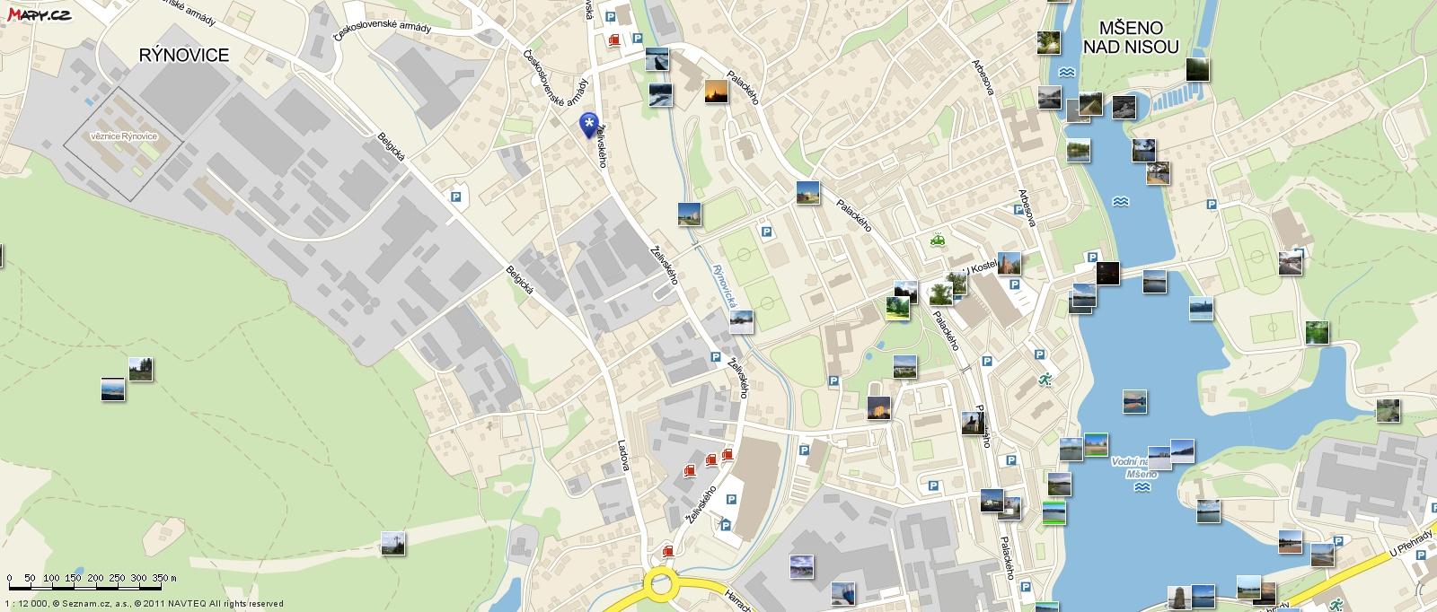 mapa kočárky Jablonec nad Nisou