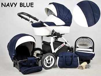 BabyLux White Lux Navy Blue