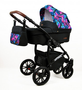 BabyLux Optimal Black Colorful Feathers