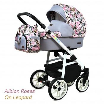 BabyLux Colorlux White Albion Roses On Leopard