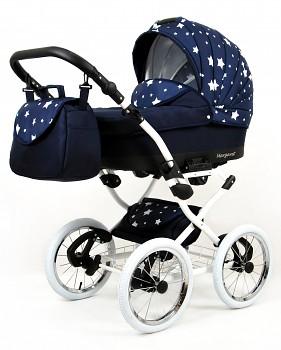 BabyLux Margaret White Navy Blue Star